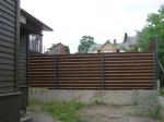 щорообразна дървена ограда по поръчка