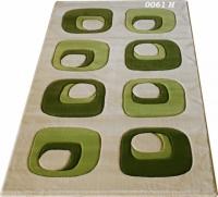 Правоъгълни килими с десен в зелено 125х200см