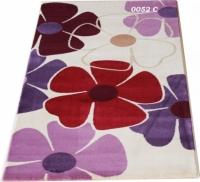 Гладки машинни килими на цветя