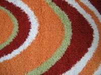 Гладък килим в топли тонове правоъгълен