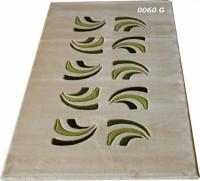 Машинни килими с десен в зелено 100х200см