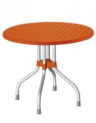 Кръгла маса в оранжево