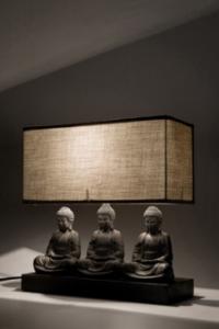 Настолна лампа Седящи Буда