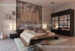 Спалня по поръчка с голям гардероб с  по 6 квадратни огледала на всяка врата