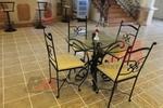 столове от ковано желязо за ресторанти за двор