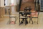 Градински качествени столове от ковано желязо