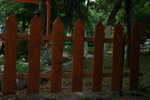 огради от дърво ниски