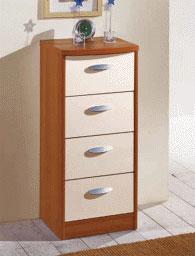 Шкаф за обувки 88/38/38см с бели чекмеджета